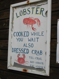 The Lobster Store, at harbour one minute walk away