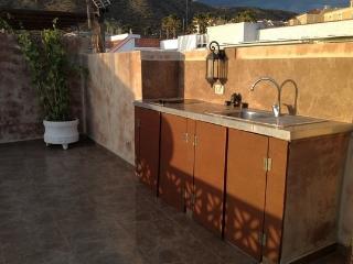 Terrace ,up floor,open kitchen