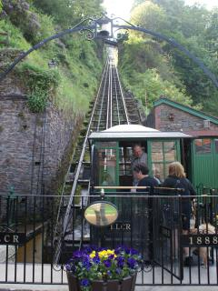 Visit the water powered funicular railway at nearby Lynmouth for a unique day out
