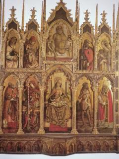 Monte San Martino. Church St. Martin - Polyptych of Carlo Crivelli e Vittore Crivelli.