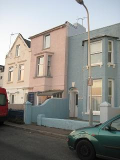 House from the outside (pink house)