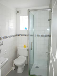 brand new bathroom with lashings of hot water