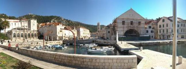 Hvar  old harbour, arsenal and main square