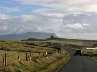 Classiebawn Castle with Benbulben mountain in the distance