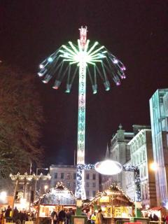 The Star Flyer in St Andrew Square for Christmas