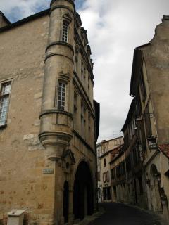Medieval buildings in Bergerac old town