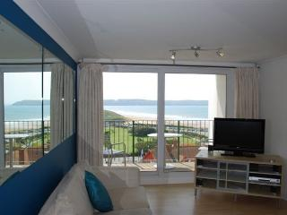 Looking from the sofa to the sea