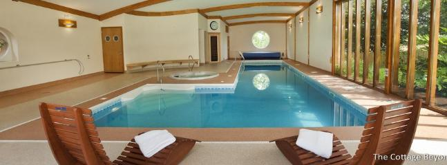 The fabulous pool suitable for all, with a length of 13m and a deep end for the serious swimmers
