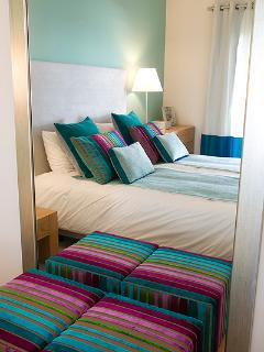 THE GUEST BEDROOM...COLOURFUL AND COZY