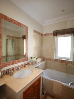 THE GUEST BATHROOM. ENJOY YOUR SHOWER, WHILST LOOKING OUT TO SEA.