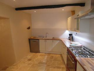 Hi-spec kitchen with Smeg range, American double fridge and all the amenities