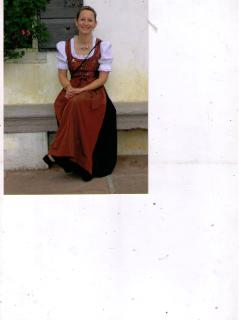 Wilma on Sunday with traditional costume