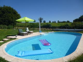 The in-ground heated 10x5 metre swimming pool