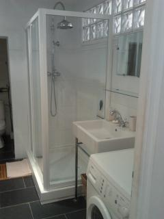 Clean and Large Bathroom