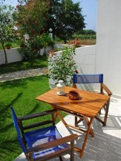 Sitting table outdoors