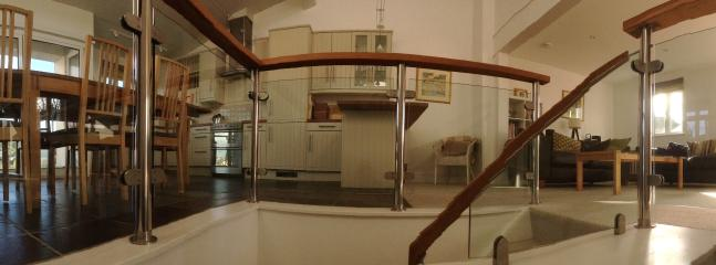 Panoramic shot from the top of the stairs