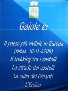 Gaiole is.........