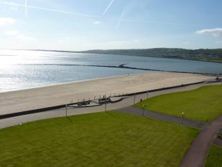 View from lounge balcony towards Burry Port.The Millennium Coastal Path is ideal for walking/cycling