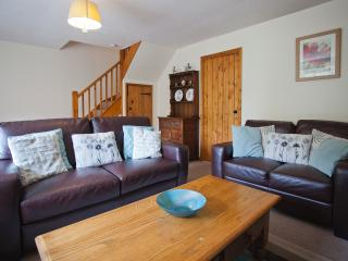 Windrush Lounge with comfy leather sofas