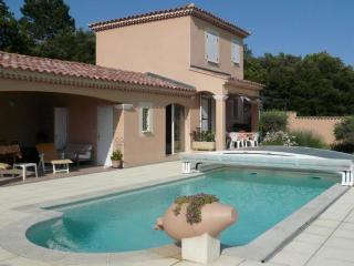 La piscine sa fontaine et l'abri permetant la baignade d'avril à octobre