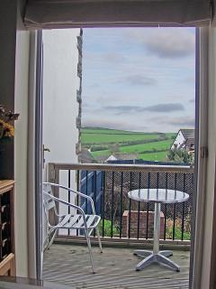 View of St Breoch Downs from the Kitchen/Diner