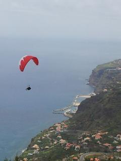 paraglider abovearco da calheta