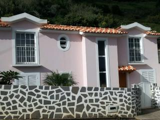 pink house in calheta