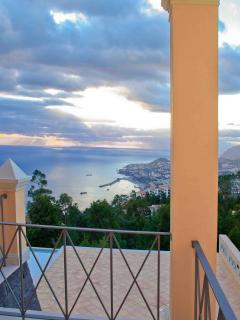 VIEW OVER FUNCHAL FROM THE GUEST BEDROOM. BREATH TAKING VIEWS FROM EVERY ROOM AND ANGLE OF THE VILLA