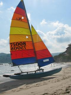 Catamarans can be rented on La Ropa