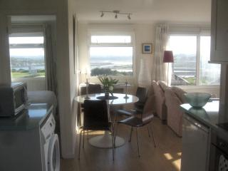 Hi-Up Cornish Chalet with superb views Sleeps 4, St. Ives