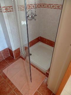 En-suite to the master bedroom - shower, sink, toilet