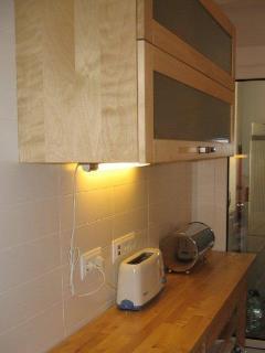 More kitchen workspace
