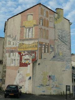 Angouleme is famous for it's cartoon museum and wall paintings.