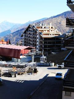 View of ski lift from apartment balcony