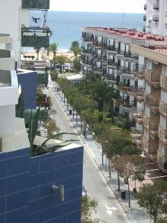 Vista lateral al mar desde la terraza