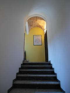 The private hallway leading to the apartment