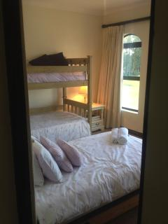 Snapshot of 'Girls Room' 2 bunk single beds with a twin (Babies camp cot fold out also ava