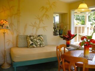 The cottage was named after the bamboo bas-relief that decorate the walls of the screened lanai