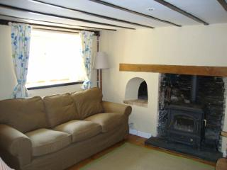 The living room in Ceiros Cottage