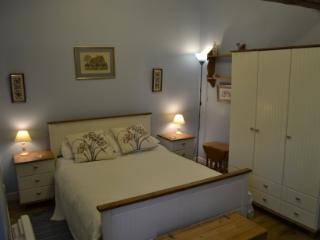 Blue room, double bed