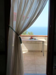 Lily Rosa Front Balcony overlooking Tyrannian Sea