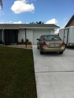 Driveway and garage door