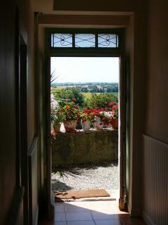 corridor entrance to the private terrace
