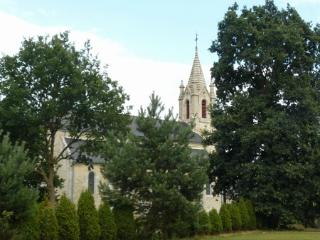 View of church from the garden