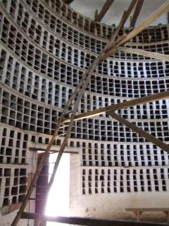 Inside of a dovecot or pigeon house