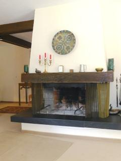 Open fire place.