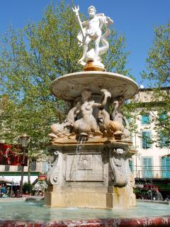 The 18th century Neptune fountain on Place Carnot.