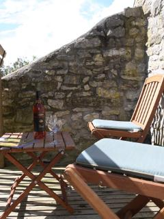 The Barn's Balcony: perfect for relaxing with a glass of wine or a cup of tea