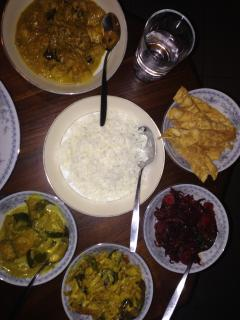 SriLankan rice and curry made by Nimal