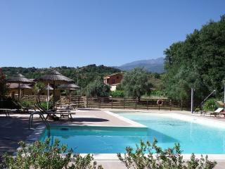 lovely shared pool with view of Mount Etna